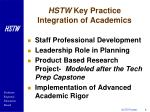 hstw key practice integration of academics8