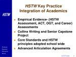 hstw key practice integration of academics9