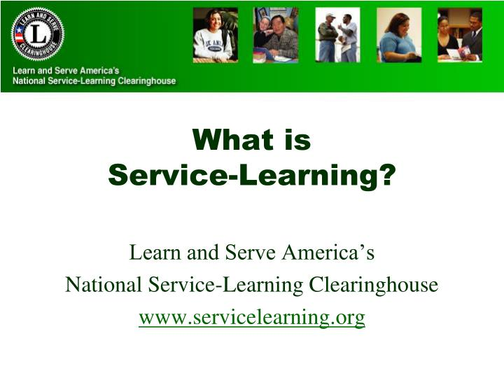 what is service learning n.