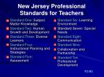 new jersey professional standards for teachers