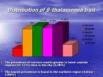 distribution of thalassemia trait