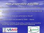 main preparatory activities21