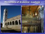 monastery of ardenica lushnja