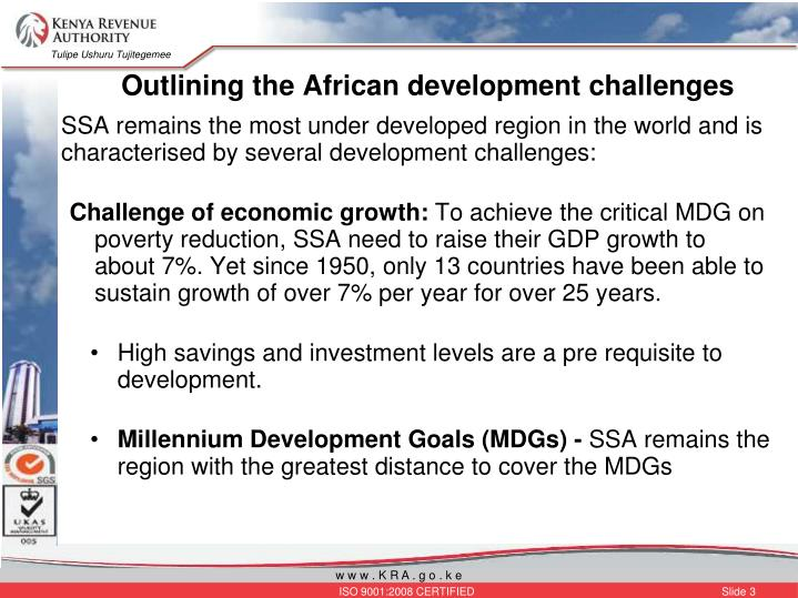 Outlining the african development challenges