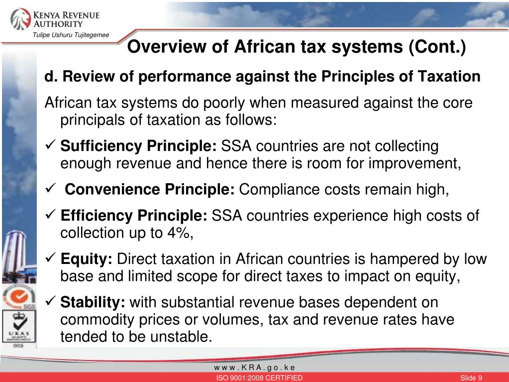 Overview of African tax systems (Cont.)