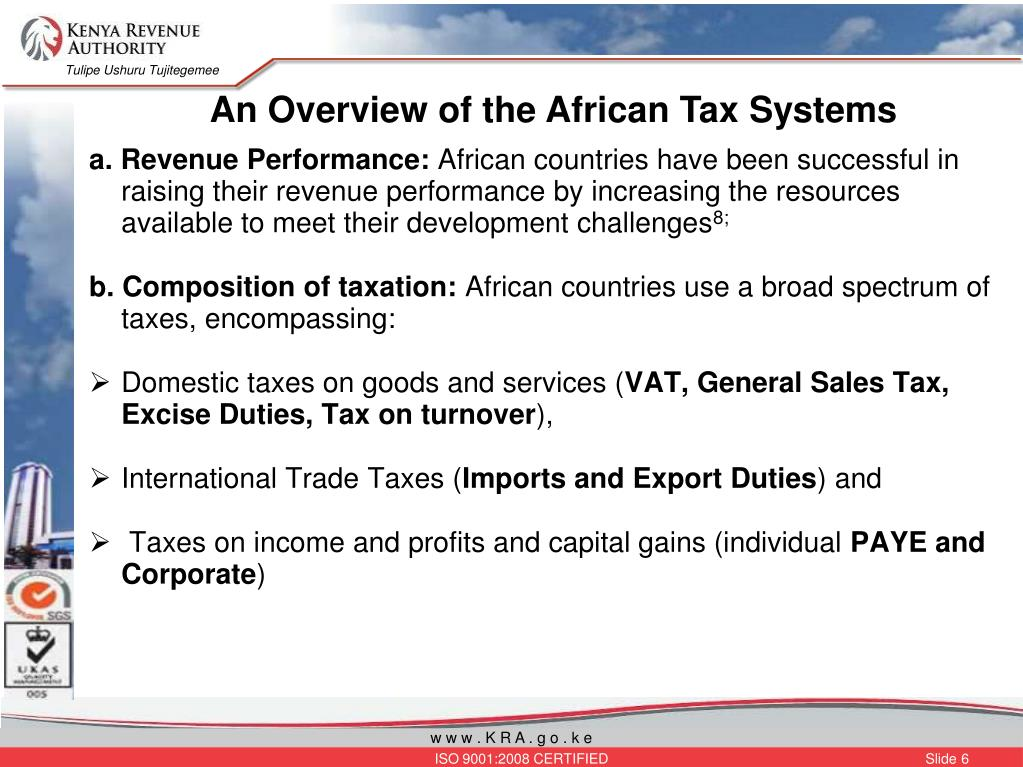 An Overview of the African Tax Systems