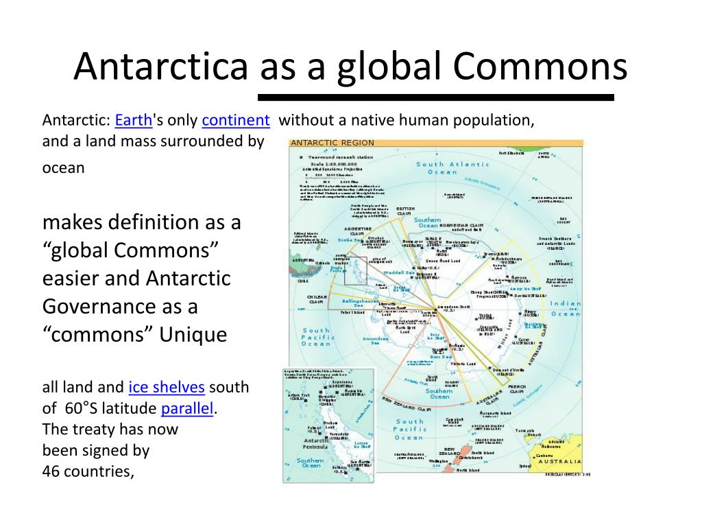 Antarctica as a global Commons