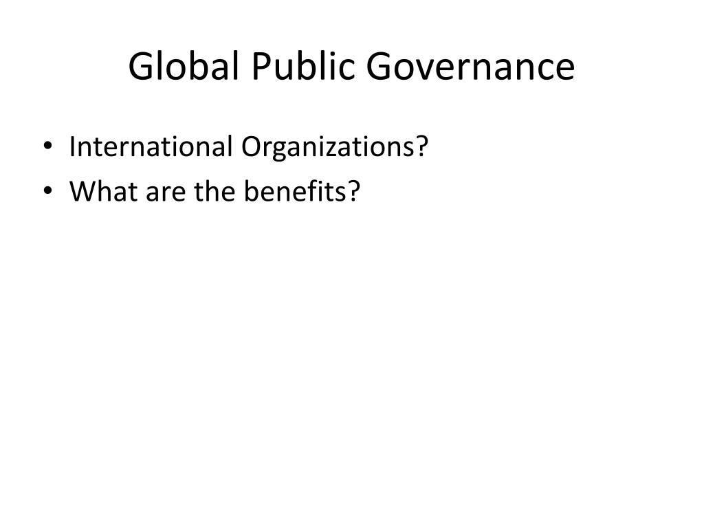 Global Public Governance