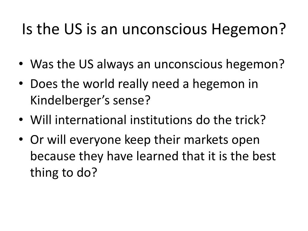 Is the US is an unconscious