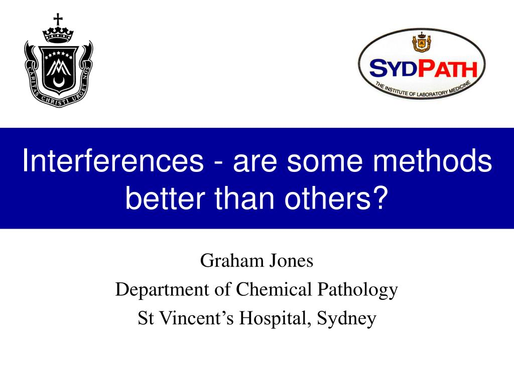 Interferences - are some methods better than others?
