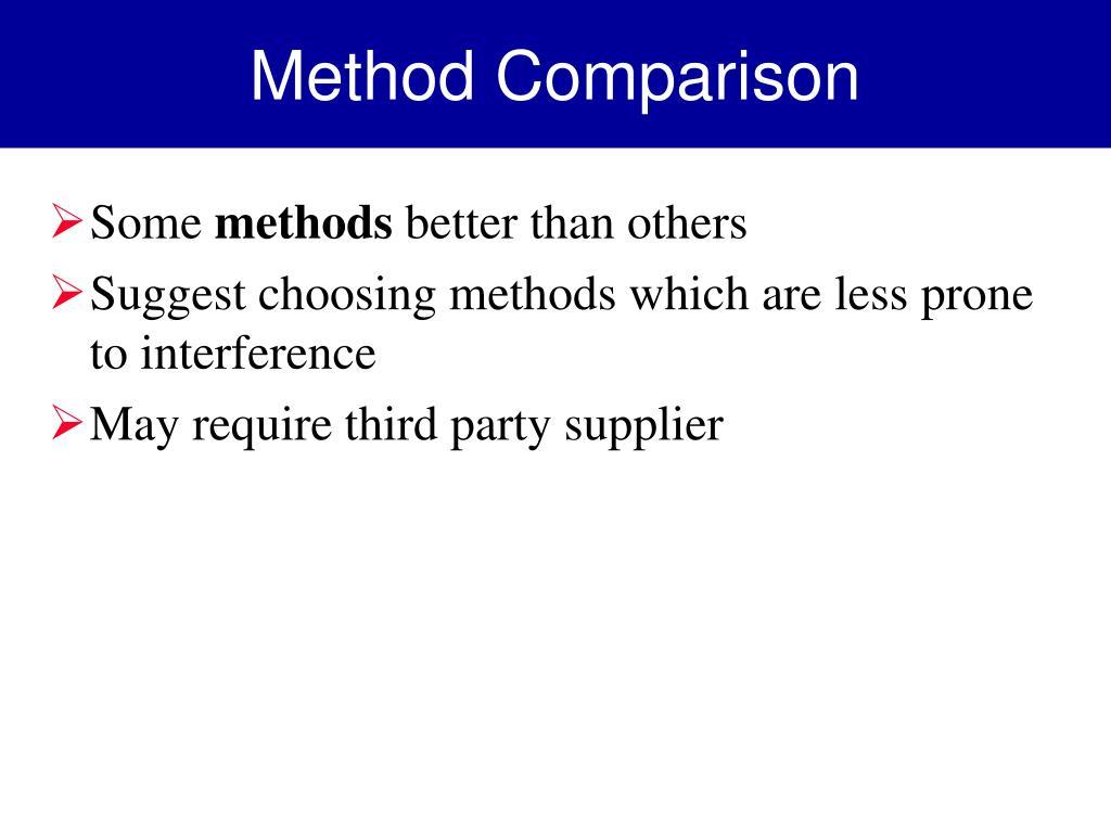 Method Comparison