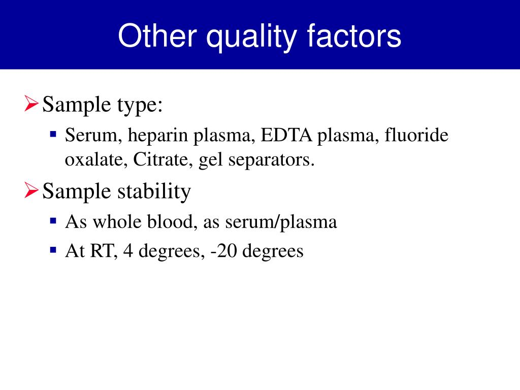 Other quality factors