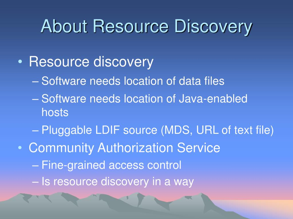 About Resource Discovery