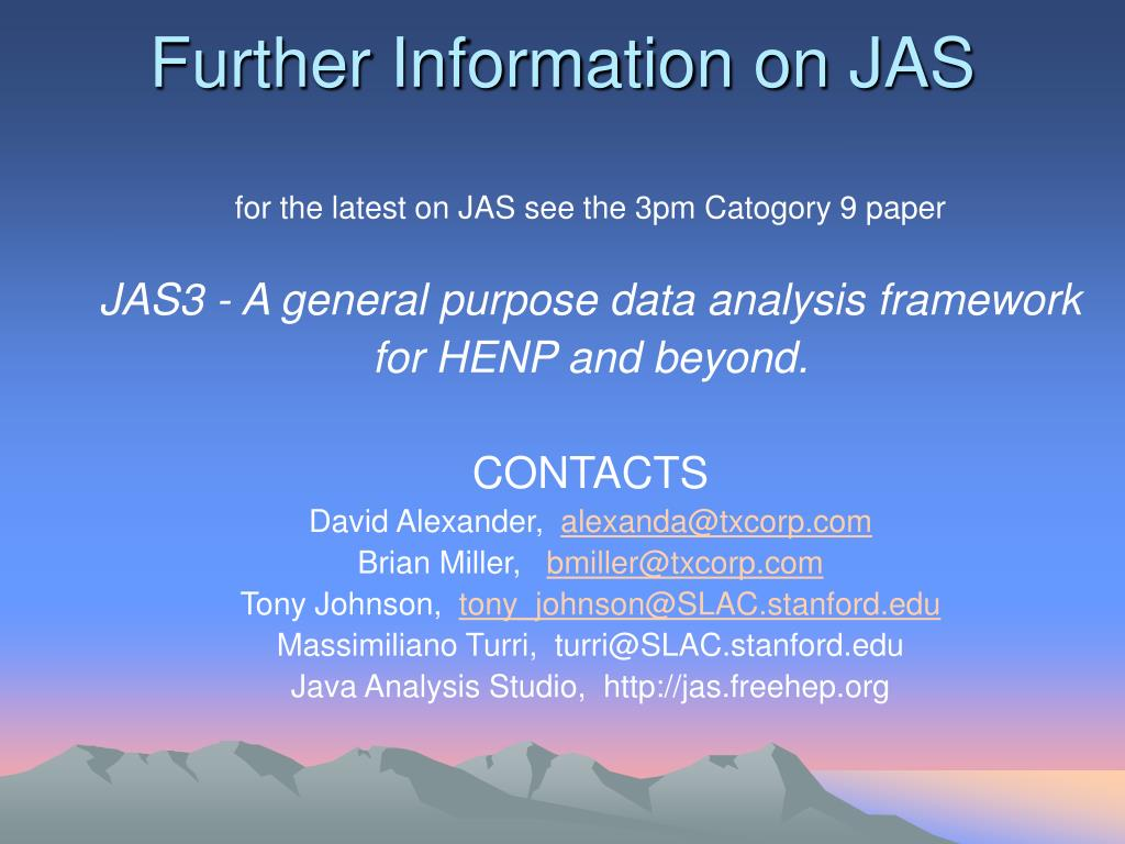 Further Information on JAS