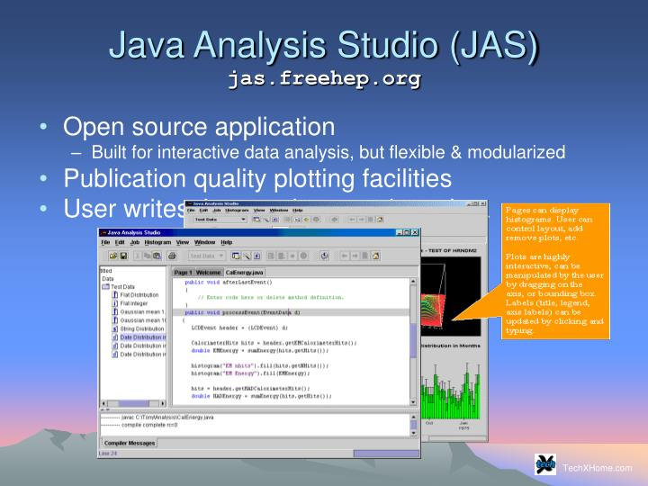 Java analysis studio jas jas freehep org