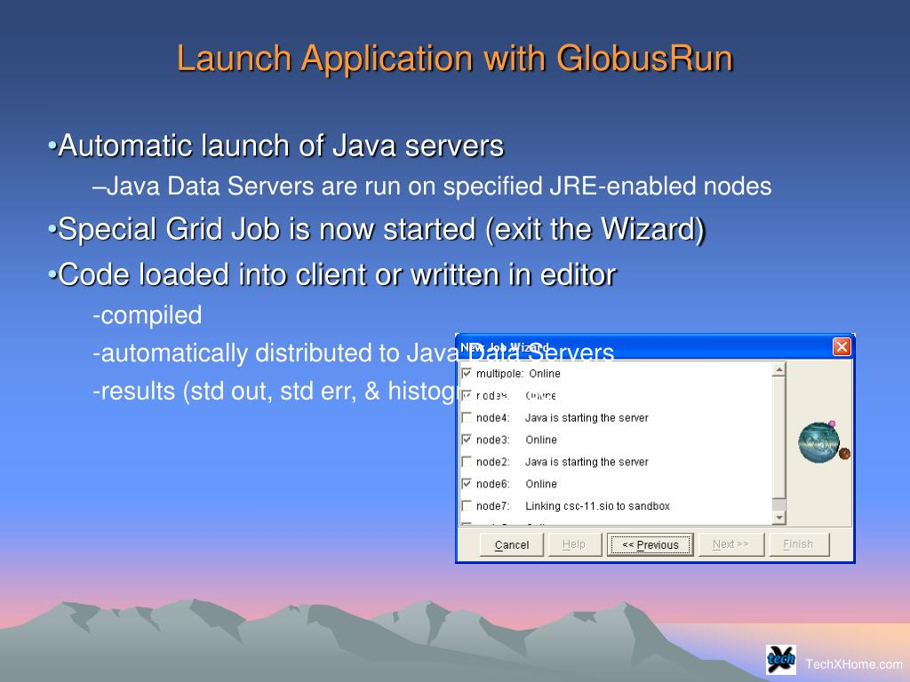 Launch Application with GlobusRun