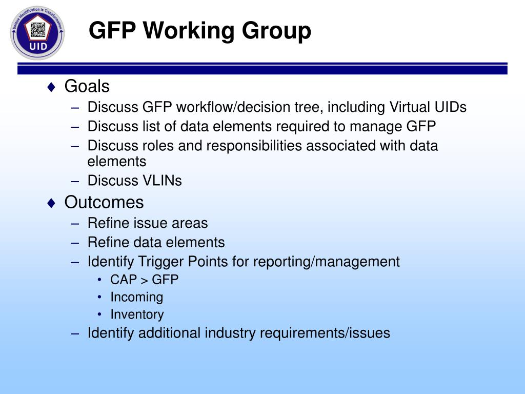 GFP Working Group