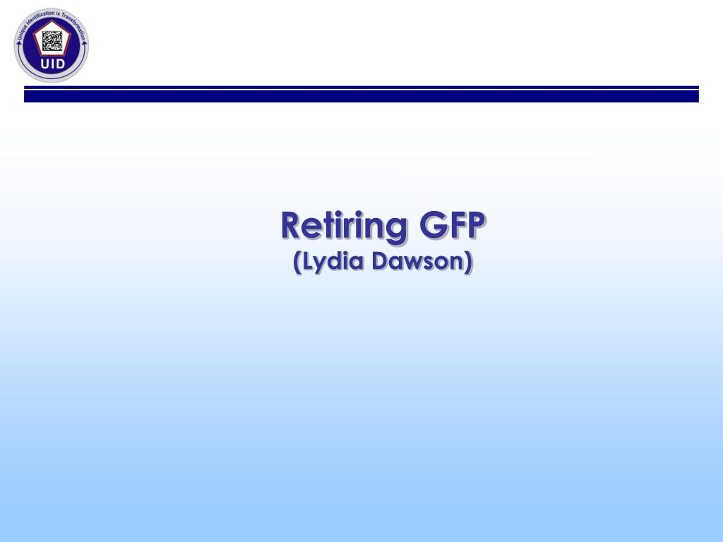 Retiring GFP
