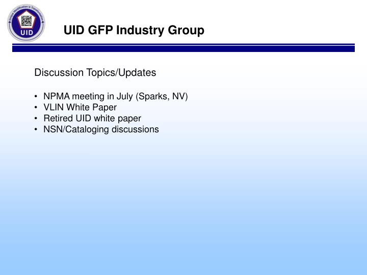 UID GFP Industry Group