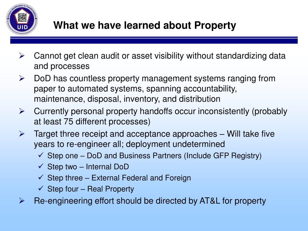 What we have learned about Property