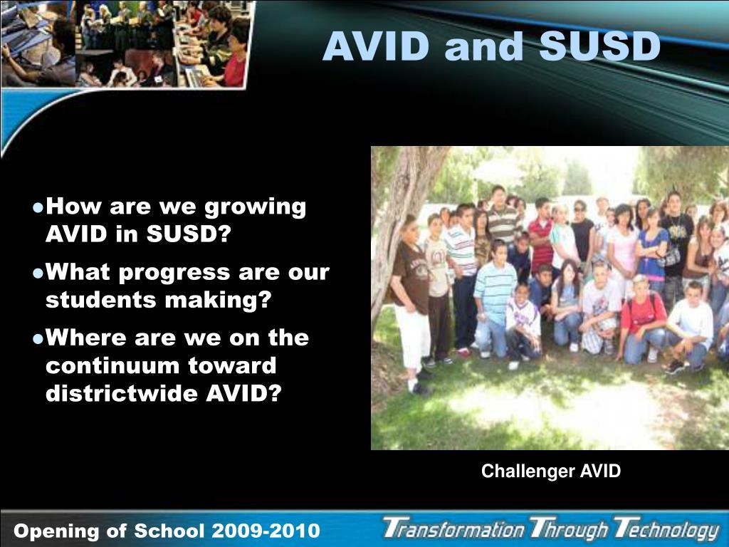AVID and SUSD