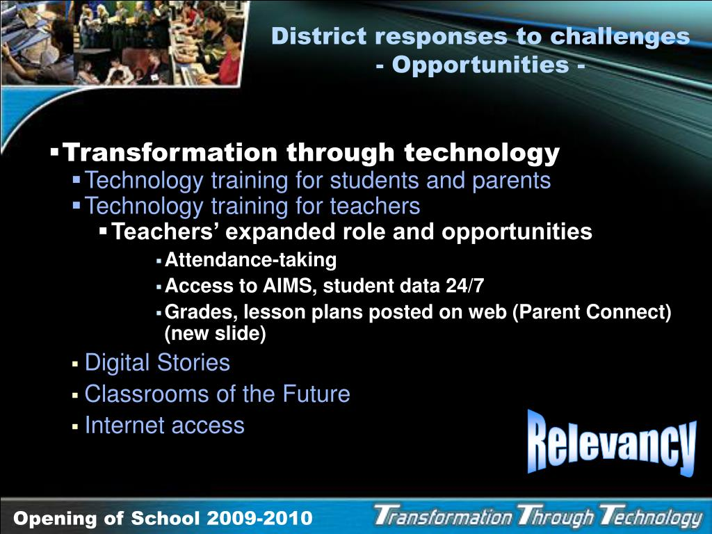 District responses to challenges