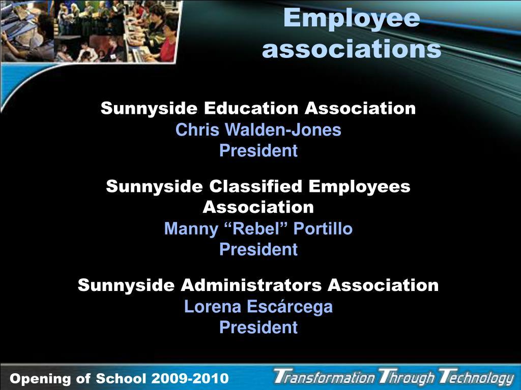 Employee associations