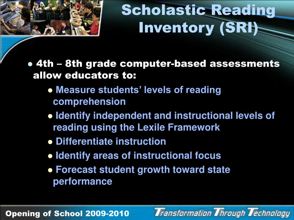 Scholastic Reading Inventory (SRI)
