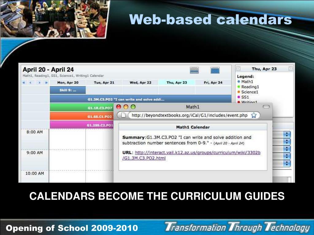 Web-based calendars