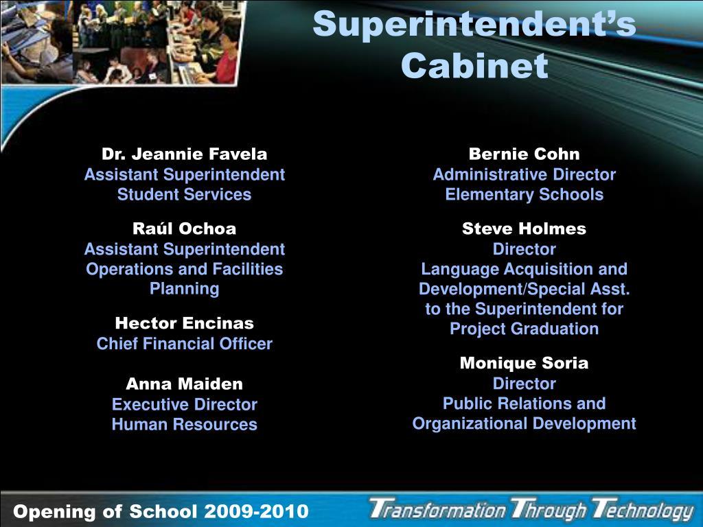 Superintendent's Cabinet