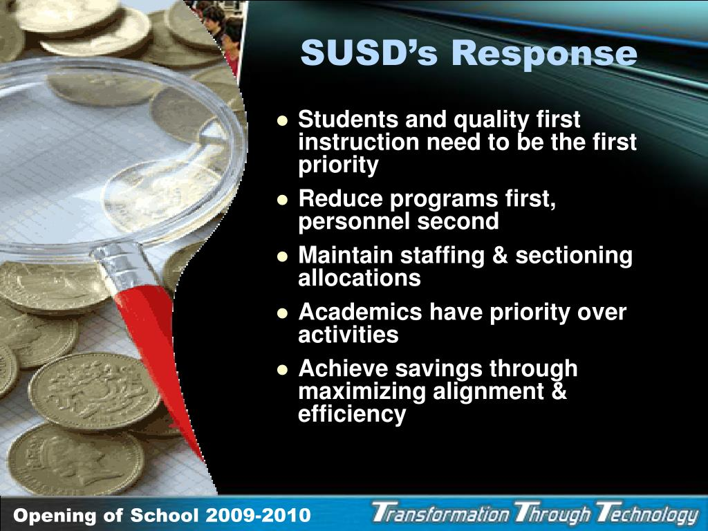 SUSD's Response
