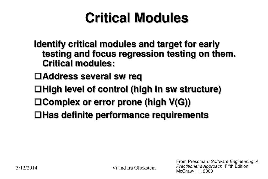 Critical Modules