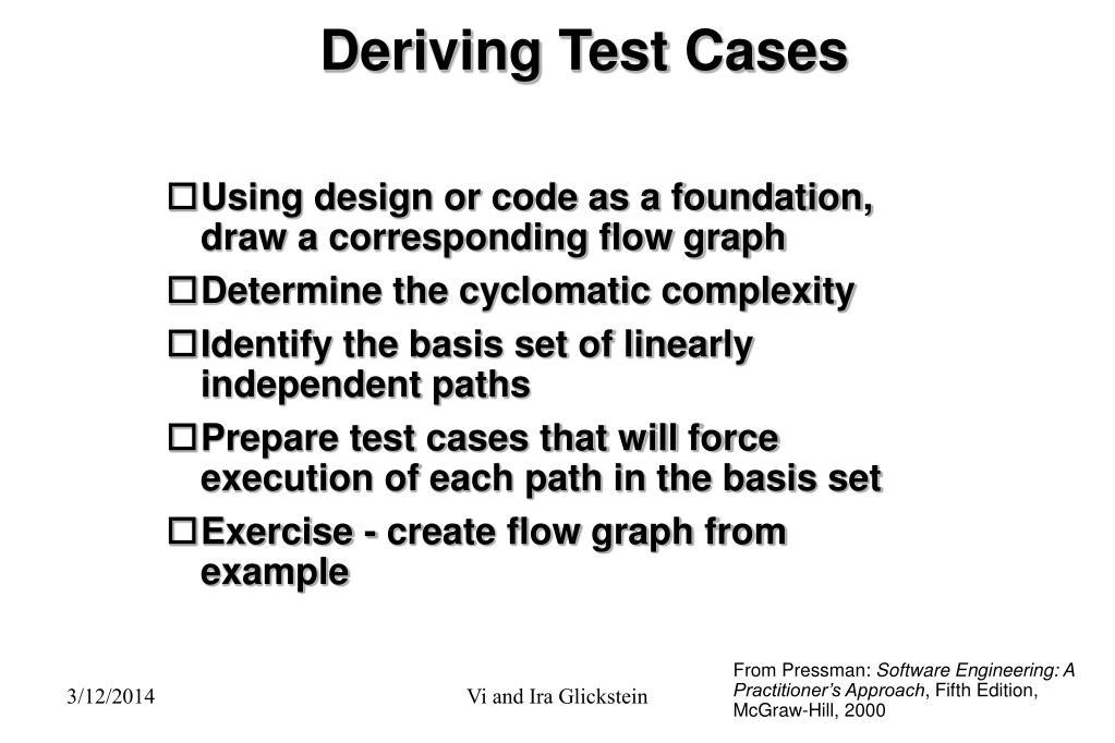 Deriving Test Cases