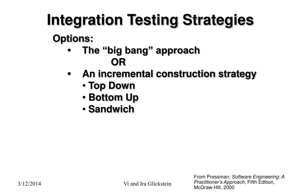 Integration Testing Strategies