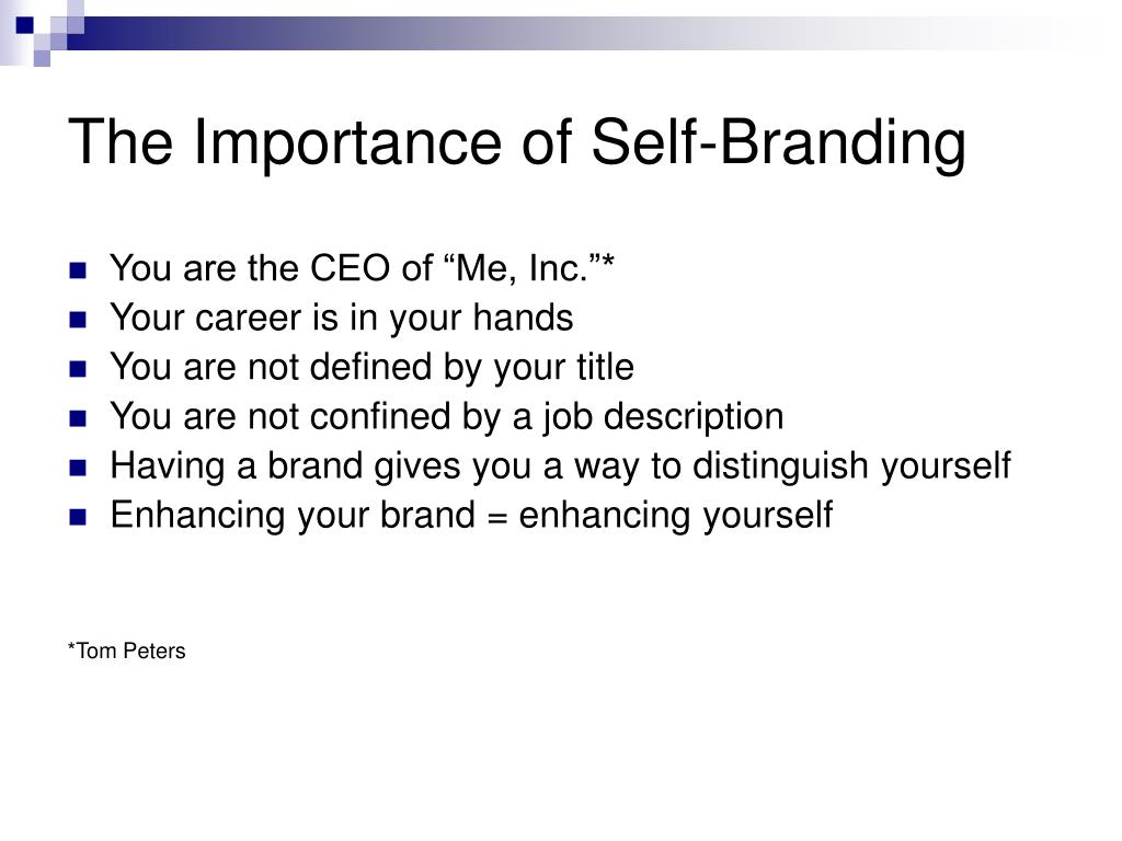 The Importance of Self-Branding