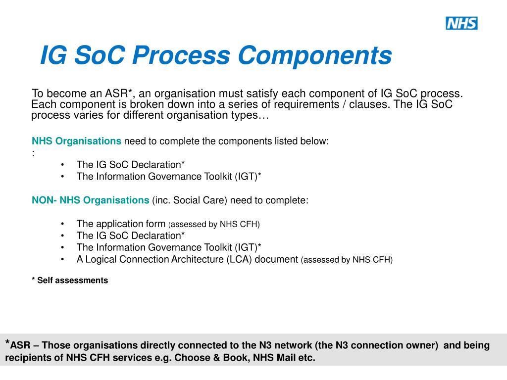 IG SoC Process Components