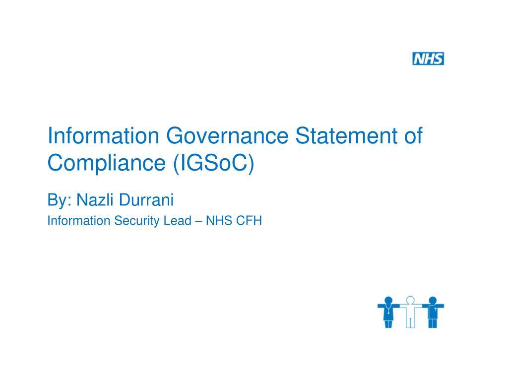 Information Governance Statement of Compliance (IGSoC)