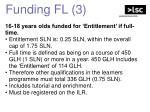funding fl 3
