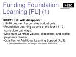 funding foundation learning fl 1