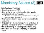 mandatory actions 2