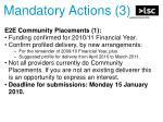 mandatory actions 3