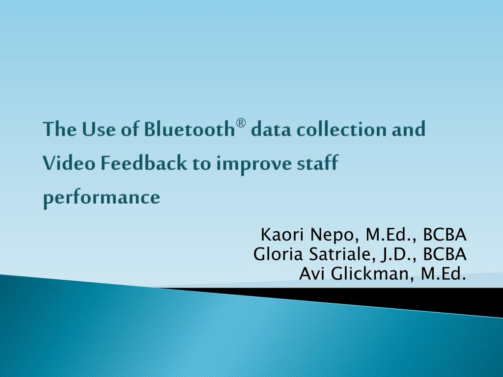 The Use of Bluetooth