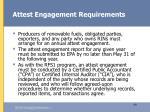 attest engagement requirements