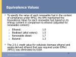 equivalence values