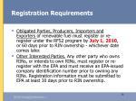 registration requirements