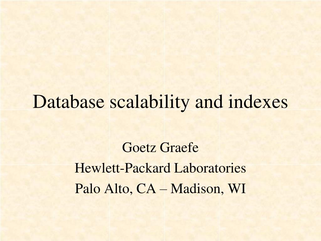 database scalability and indexes
