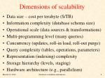 dimensions of scalability