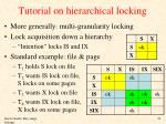 tutorial on hierarchical locking