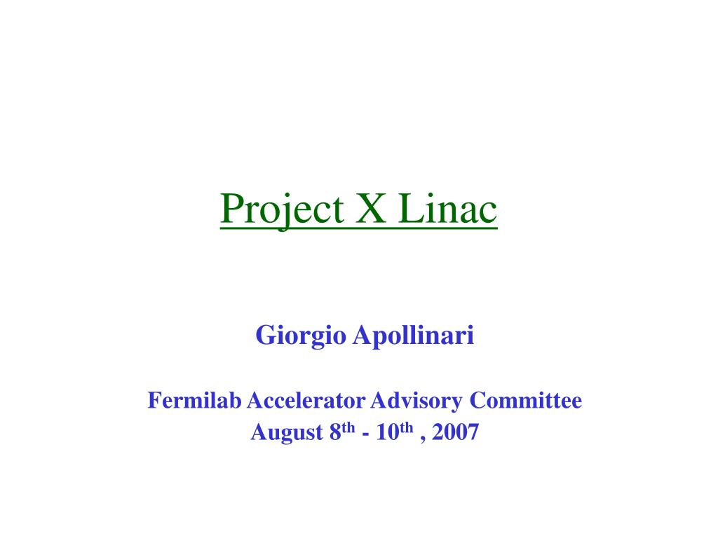 Project X Linac