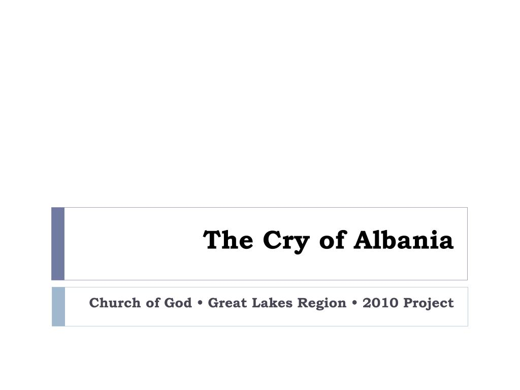the cry of albania l.
